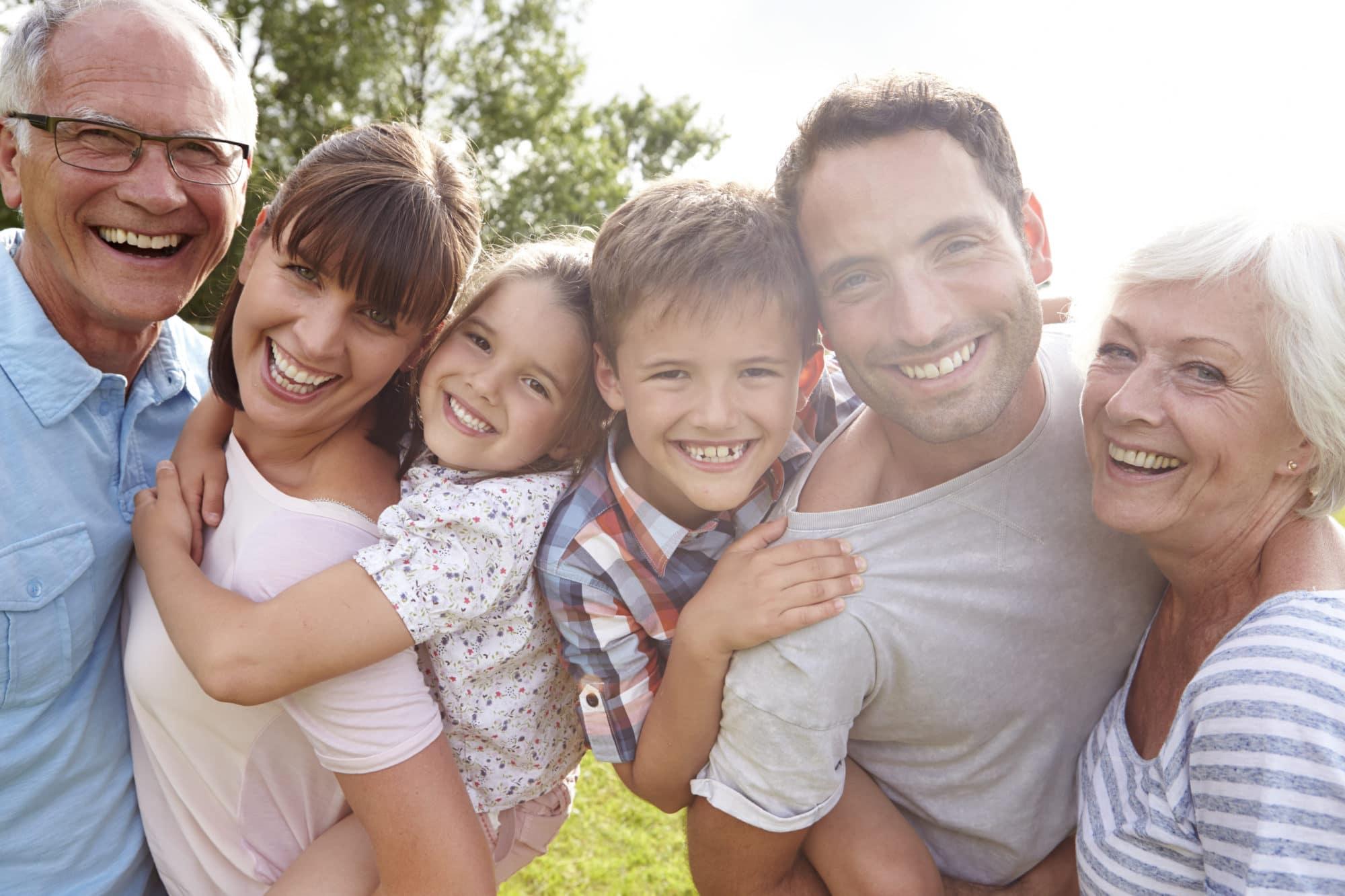 Famille multi générationnelle